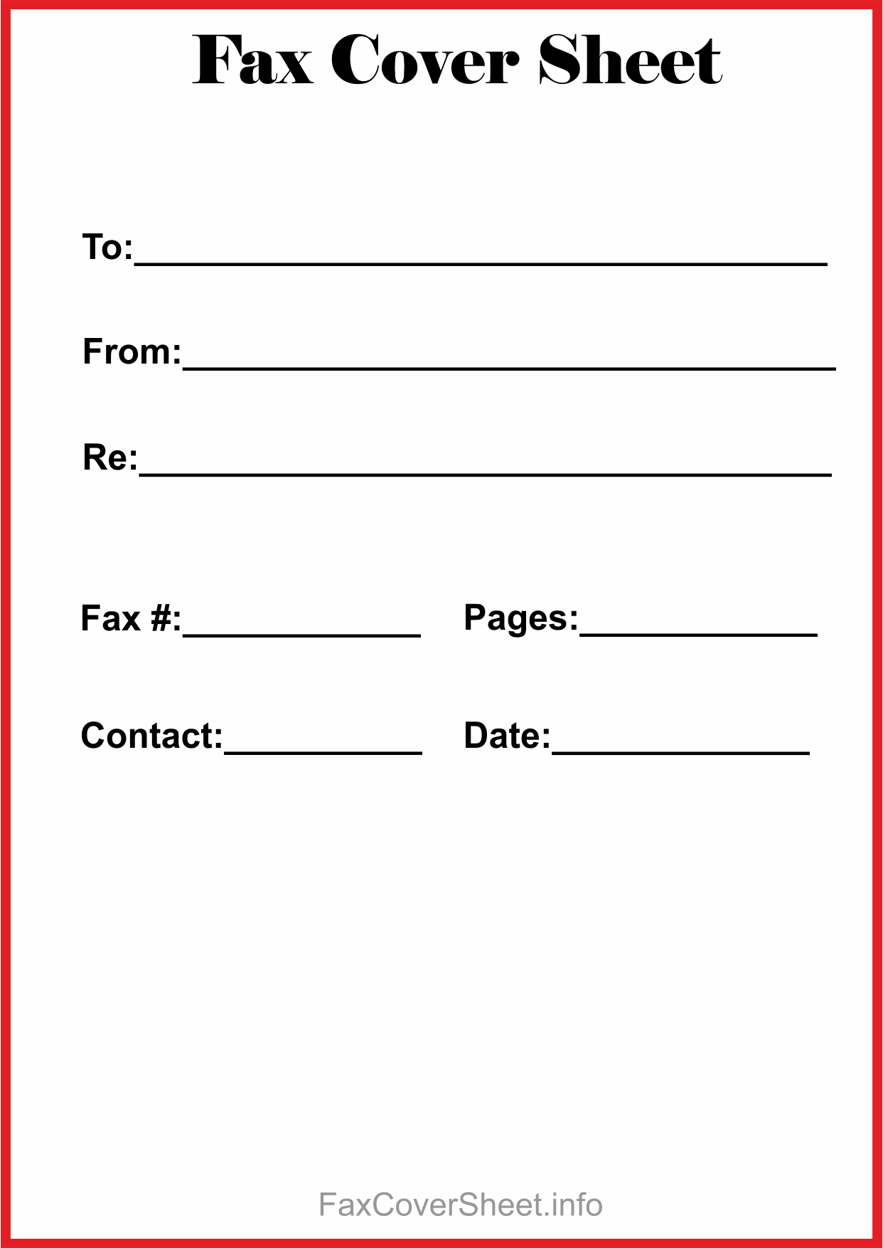 photo relating to Printable Fax Cover Sheets referred to as Free of charge Printable Fax Deal with Sheet PDF Down load ($367